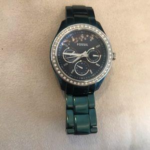 Fossil Watch - Dark Green